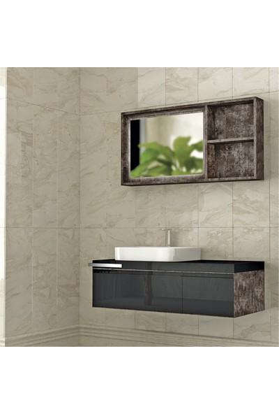 NPlus Mokka 120 cm Banyo Dolabı