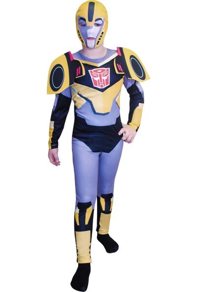 Mega Oyuncak Transformers Bumblebee Çocuk Robot Kostümü 7-9 Yaş