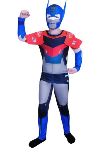 Mega Oyuncak Transformers Optimus Prime Çocuk Robot Kostümü 7-9 Yaş