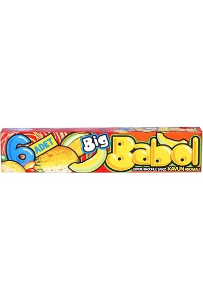 Big Babol 6'lı Kavun Aromalı 18 Adet