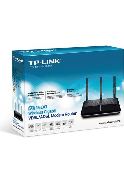 TP-Link Archer VR600 1600Mbps Gigabit VDSL/ADSL2+ Modem & RE200 750Mbps Kablosuz AC Dual Band Menzil Genişletici