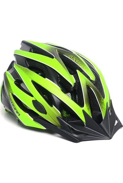 Sedona Kask Yol-MTB MV-29 Plus Vizörlü Siyah-Yeşil S