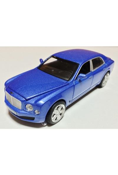 Vardem Bentley 1:32 Mavi Çek Bırak Metal Araba (Sesli Işıklı)