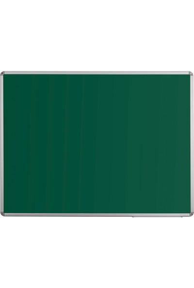 Penguen 50 cm x 70 cm Alüminyum Çerçeve Duvara Monte Yeşil Tahta (Tebeşir Tahtası)