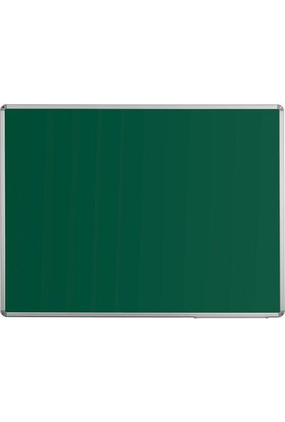 Penguen 90 cm x 120 cm Alüminyum Çerçeve Duvara Monte Yeşil Tahta (Tebeşir Tahtası)