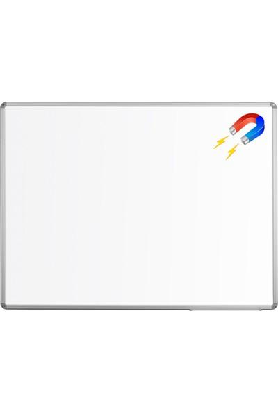 Penguen 30 cm x 45 cm Alüminyum Çerçeve Duvara Monte Manyetik Yazı Tahtası Beyaz