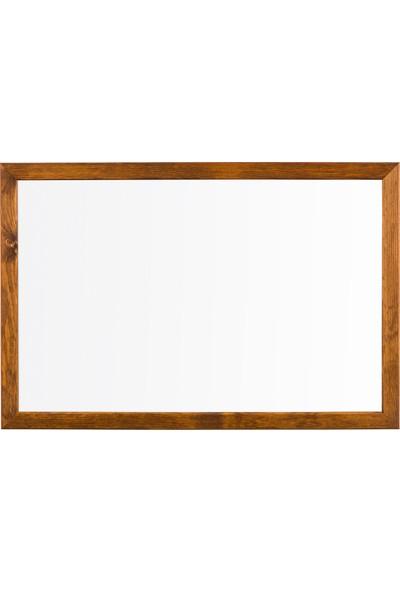 Penguen 45 cm x 70 cm Doğal Ahşap Çerçeve Duvara Monte Laminat Yazı Tahtası Beyaz