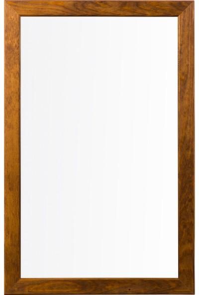 Penguen 60 cm x 90 cm Doğal Ahşap Çerçeve Duvara Monte Laminat Yazı Tahtası Beyaz