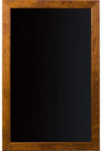Penguen 45 cm x 70 cm Doğal Ahşap Çerçeve Duvara Monte Kara Tahta (Tebeşir Tahtası)