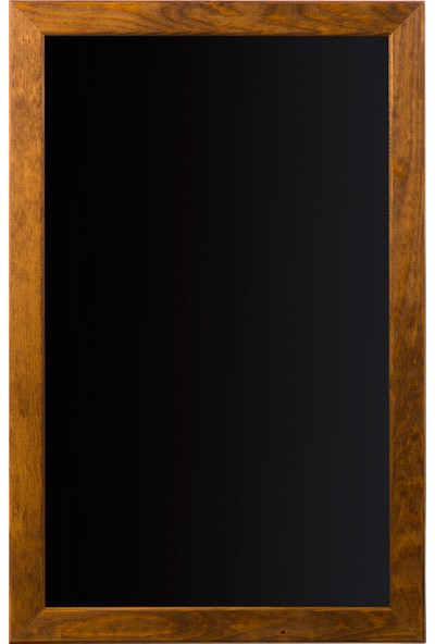 Penguen 60 cm x 90 cm Doğal Ahşap Çerçeve Duvara Monte Kara Tahta (Tebeşir Tahtası)