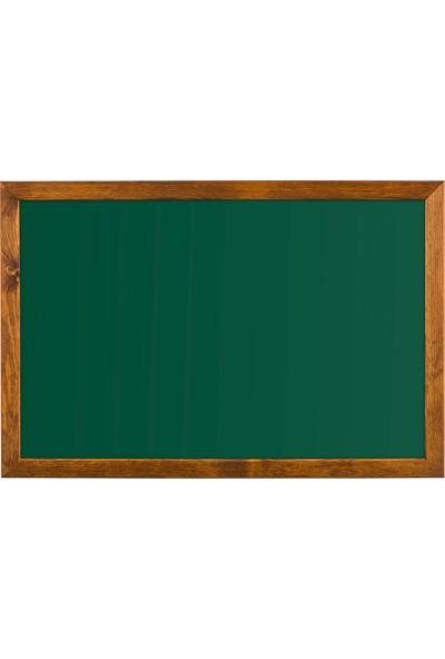 Penguen 45 cm x 90 cm Doğal Ahşap Çerçeve Duvara Monte Yeşil Tahta (Tebeşir Tahtası)