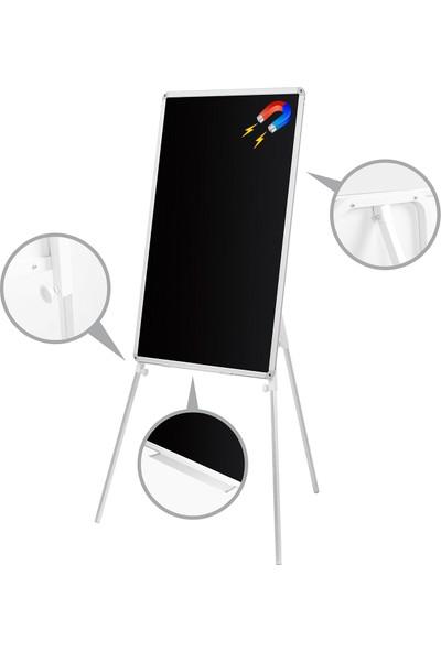 Penguen 65 cm x 100 cm Teleskopik Ayaklı Manyetik Kara Tahta (Tebeşir Tahtası)