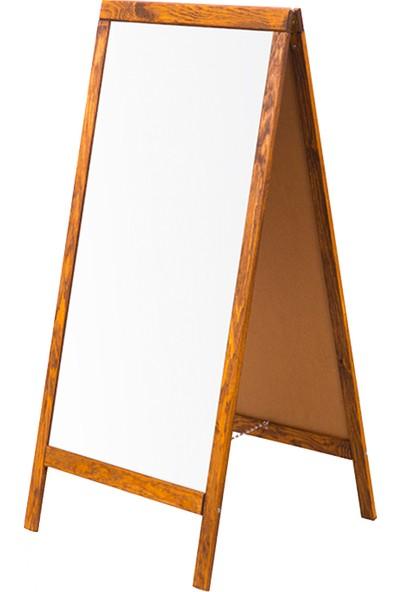 Penguen 45 cm x 110 cm Çatı Tipi Çift Yüzlü Menü Tahtası Beyaz
