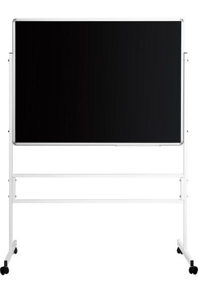 Penguen 120 cm x 200 cm Mobil Ayaklı Tek Yüzlü Kara Tahta (Brifing Tahtası, Tebeşir Tahtası)