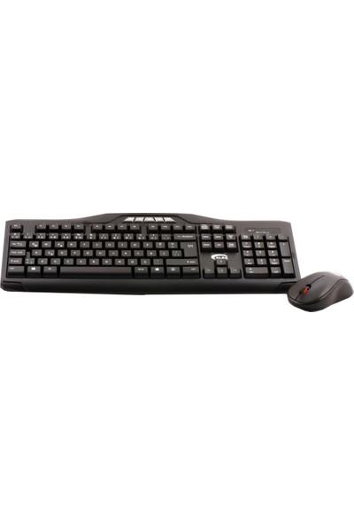 Elba Ec-266 F Usb Siyah Kablosuz Klavye Mouse Set