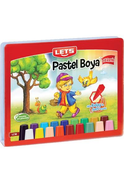 Lets Pastel Boya 18 Renk Çantalı