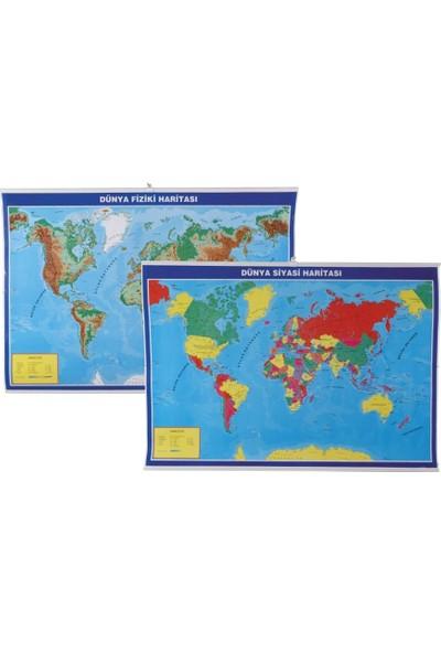 Gülpaş Harita Dünya Fiziki Ve Siyasi Çıtalı 70X100