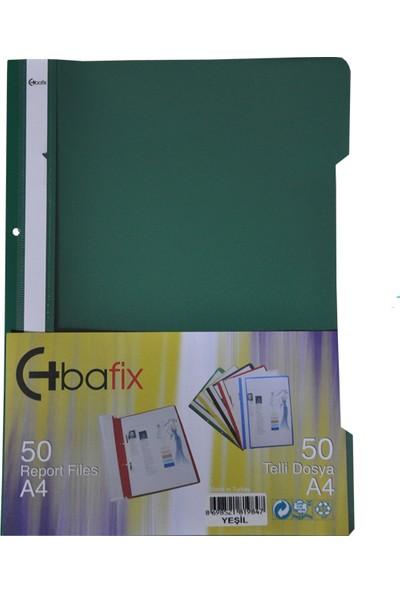 Bafix Telli Dosya Pls A-4 Yeşil