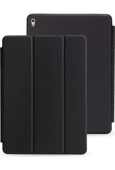 Srx Apple iPad Air 1.Nesil Tam Kadifemsi Uyku Modlu Tablet Kılıfı+Film+Kalem