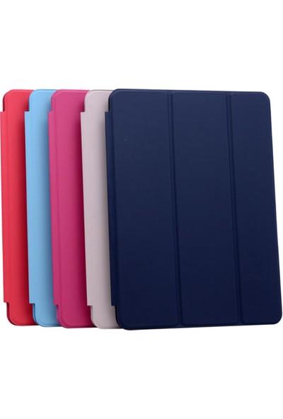 Srx Apple iPad Air 1.Nesil Tam Kadifemsi Uyku Modlu Tablet Kılıfı+9H Temperli Cam+Kalem