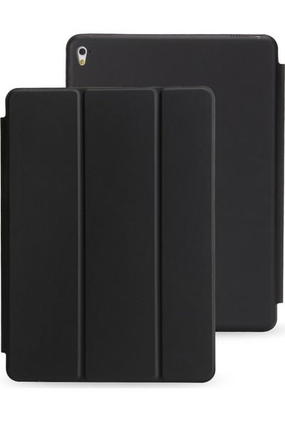Srx Apple iPad New 9.7 2017 A1822 A1823 Tam Kadifemsi Uyku Modlu Tablet Kılıfı+9H Nano 330 Derece Bükülen Ekran Koruyucu+Kalem