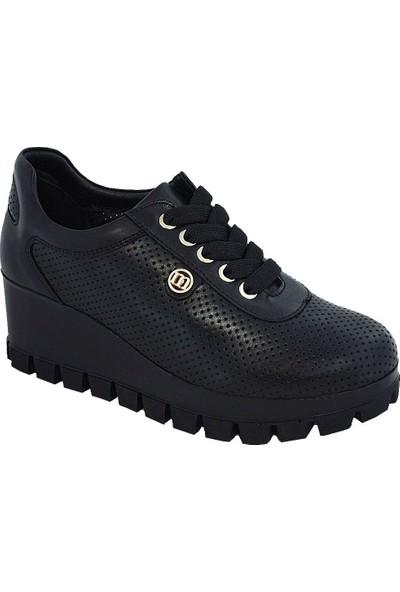 Mammamia D17Ya-835 Deri Kadın Ayakkabı Siyah