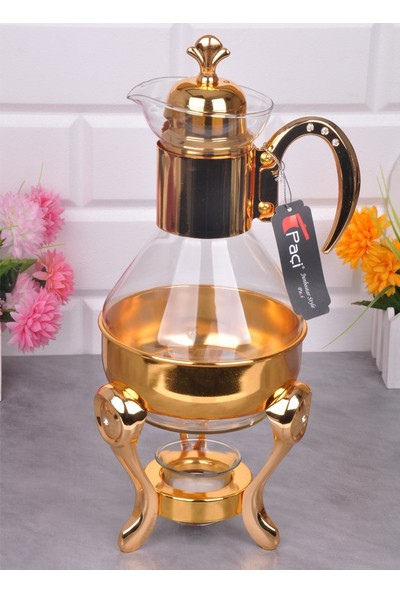 Bayev Altın Taşlı Cam Fondü 400372