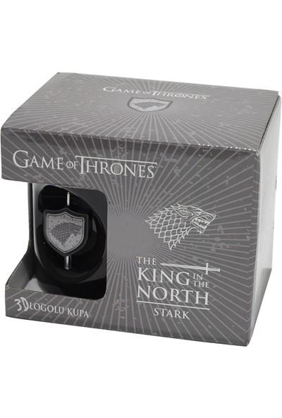 Game Of Thrones Siyah 3D Logolu Kupa Stark