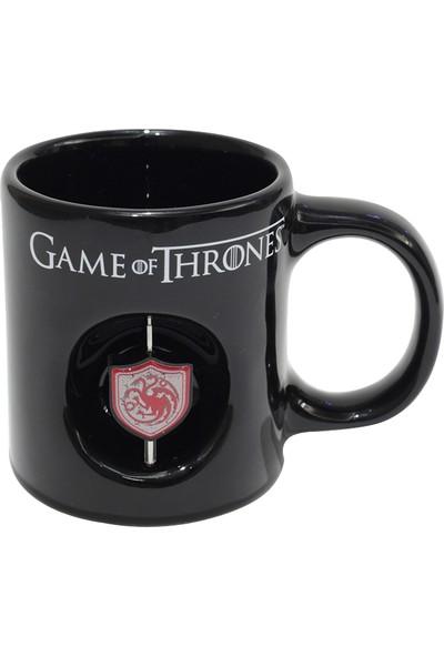 Game Of Thrones Siyah 3D Logolu Kupa Targaryen
