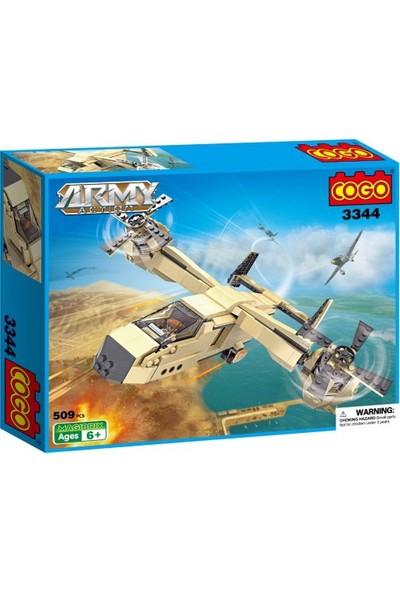 Cogo Army Asker Seti Devriye Uçağı 509 Parça - 3344