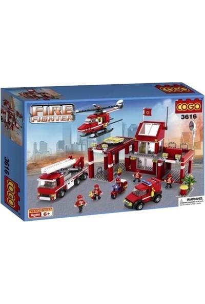 Cogo Fire Fighter İtfaiye Seti İtfaiye Merkezi 827 Parça - 3616