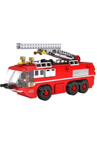 Cogo Fire Fighter İtfaiye Seti Merdivenli İtfaiye Kamyonu 424 Parça - 3615