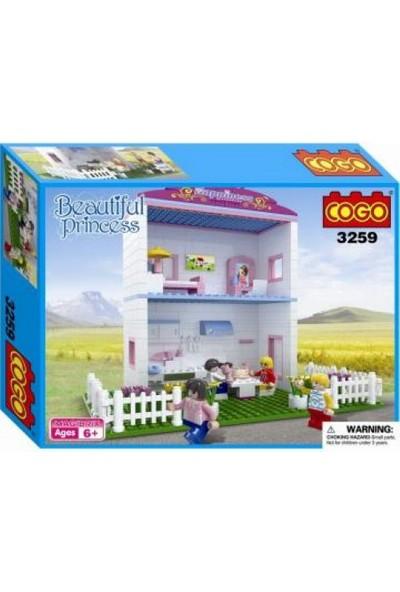Cogo Prenses Seti Prensesin İki Katlı Evi 360 Parça - 3259
