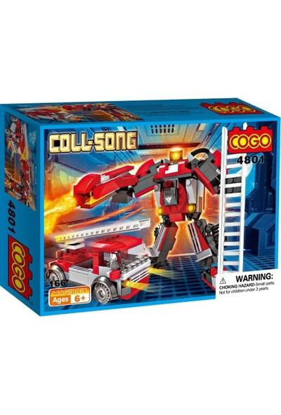 Cogo Coll Song Transformers İtfaiye Aracı Robot 166 Parça - 4801
