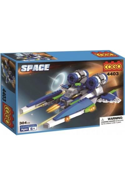 Cogo Space Uzay Seti Tekli Uzay Aracı 304 Parça - 4404