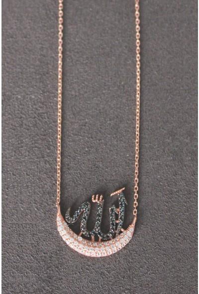 Bella Gloria Allah Yazılı Rose Gümüş Kolye (Tgk0200)