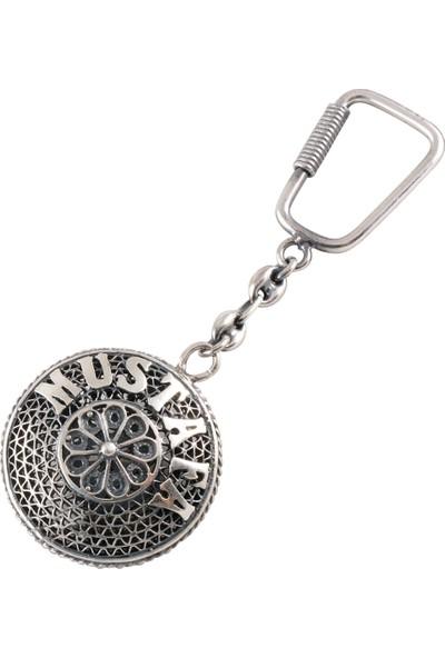 Akyüz Gümüş Kişiye Özel Telkari Gümüş Anahtarlık