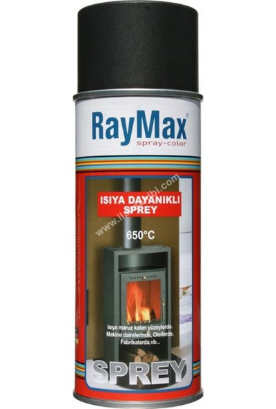 RayMax Sprey Boya Isıya Dayanıklı Siyah 690