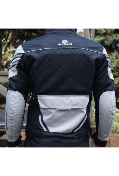 Scoyco Jk36 Yazlık Fileli Motosiklet Montu (Siyah-Gri)