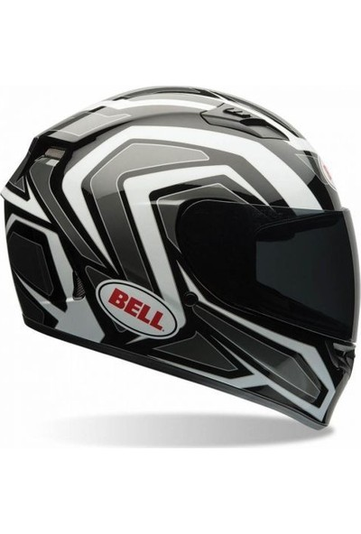 Bell Qualifier Machine Kapalı Kask (Siyah/Beyaz)