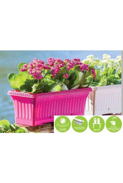 Homecare Balkon Saksı Vişne Renk 422337