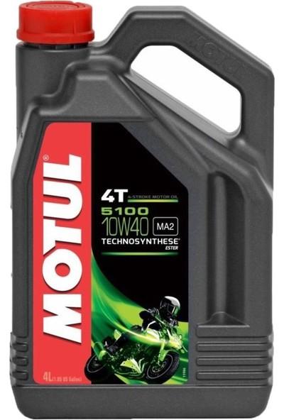 Motul 5100 10W40 4T 4 Litre Motosiklet Yağı Üretim Yılı:2020