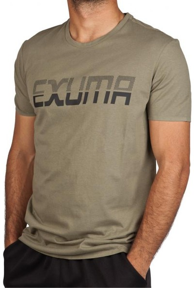 Exuma 381239 Erkek Haki Günlük Tişört