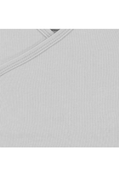 Kujju Penye Çıtçıtlı Badi 1 - 6 Ay Beyaz