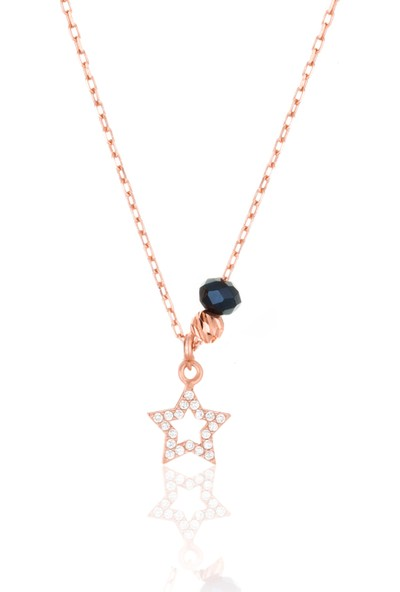 Azuris 925 Ayar Gümüş Kristal Taşlı Yıldız Kolye