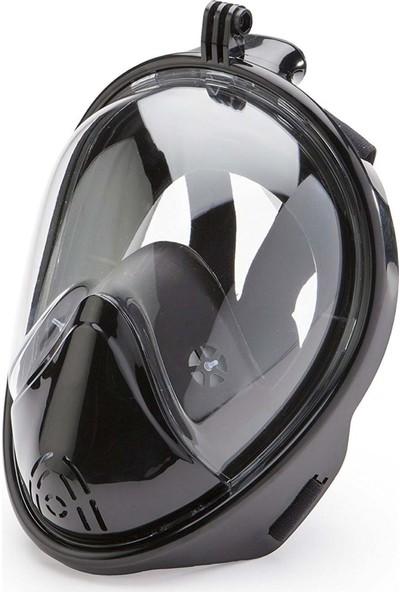 Apprise Aksiyon Kamera Takılabilir Dalış Şnorkel Maskesi - Siyah