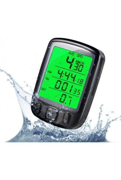 Sunding Sd565 Bisiklet Km Hız Sayacı - Su Geçirmez - Gece Kullanılabilir