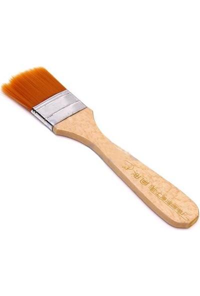 Hobi24 Turuncu Kıl Zemin Fırçası - N:3
