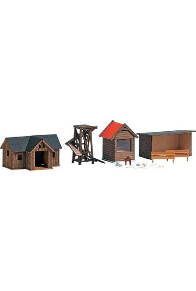Busch Maket Vahşi Yaşam Parkı 1/87 4 Parça N:1587