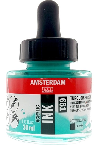 Talens Amsterdam Akrilik Mürekkebi 30Ml - N:661 Turquoise Green